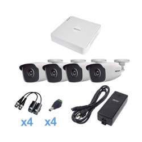 PCOM, KIT TurboHD 720p, 4 Cámaras Bala, modelo  KESTXLT4BW